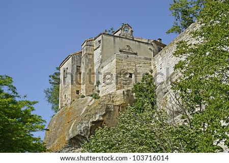 "View of the ancient village ""Les Baux"" in South France"