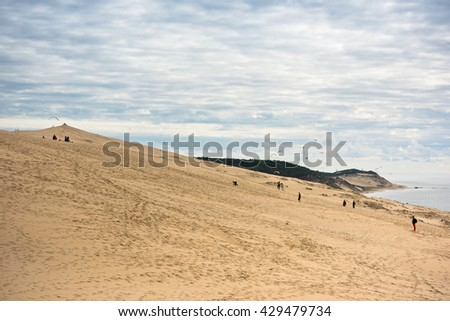 View of The Arcachon Bay and The Duna of Pyla, Aquitaine, France