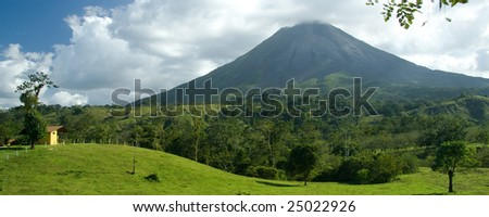 View of the Arenal volcano in Costa Rica
