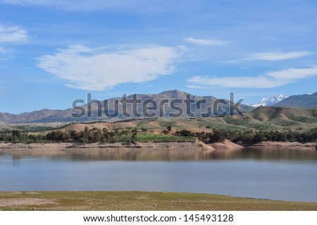 view of the Atlas mountain in Morocco - stock photo