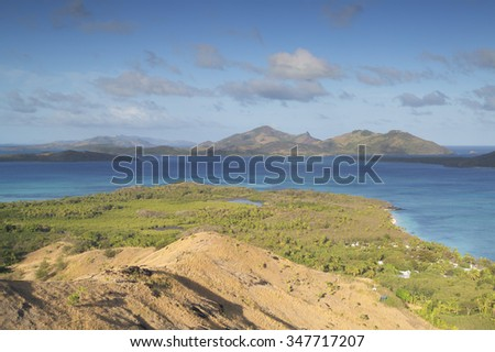 View of the Blue Lagoon, Nacula Island, Yasawa Islands, Fiji