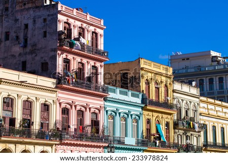 View of the buildings on the main street - stock photo