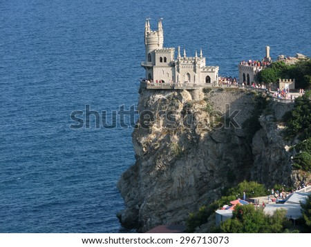View of the castle Swallow's nest against the sea