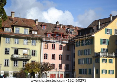 View of the center of Lucerne, Switzerland.
