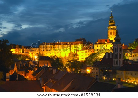 View of the Cesky Krumlov (Czech Republic, Eastern Europe) - stock photo