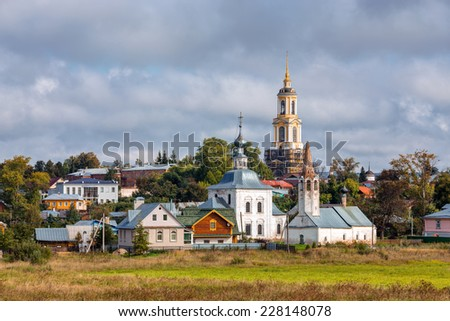 "View of the church in Suzdal. ""Golden Ring"" of Russia - stock photo"