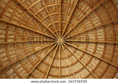 View of the Church's Ceiling at the Citadel, Amman, Jordan - stock photo