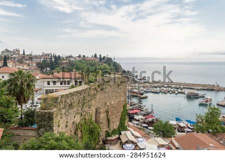 View of the city Antalya Turkey - stock photo