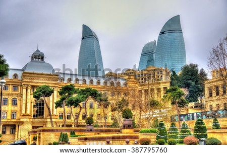 View of the city centre of Baku - Azerbaijan