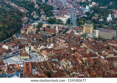 View of the city of Brasov in Romania