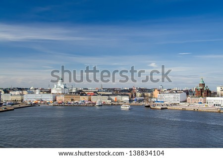 View of the city of Helsinki. Finland. - stock photo