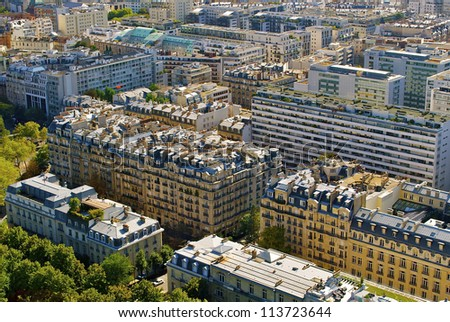 View of the city of Paris, France