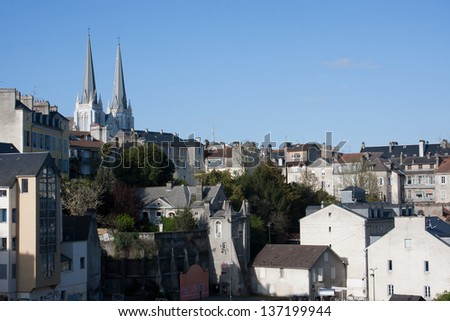 View of the city of Pau in France