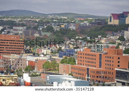 View of the city of St. John's, Newfoundland, Canada.