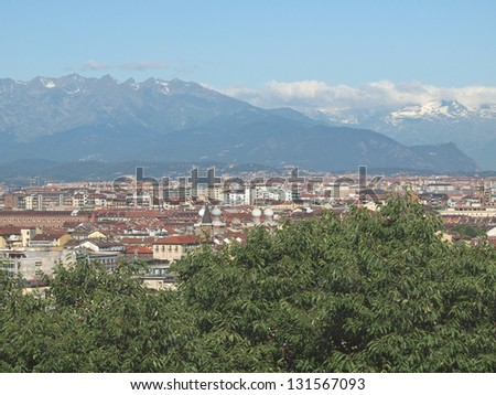 View of the city of Turin, Torino from the hill