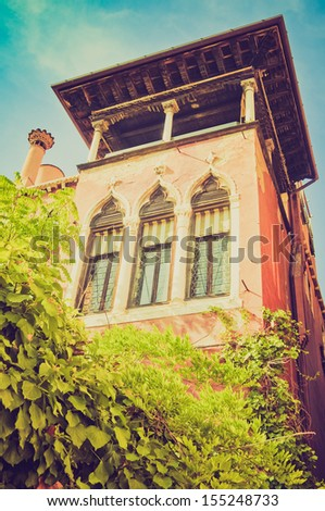 View of the city of Venice (Venezia) in Italy vintage looking