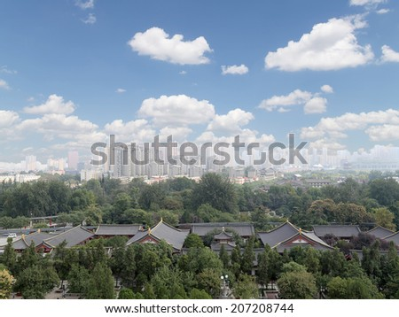 View of the city of Xian (Sian, Xi'an), Shaanxi province, China