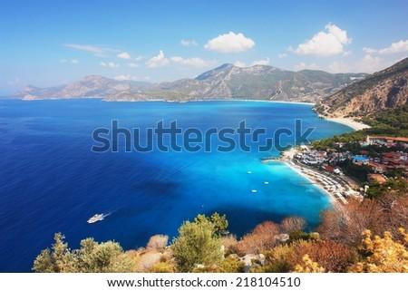 View of the coast in Oludeniz, Turkey - stock photo