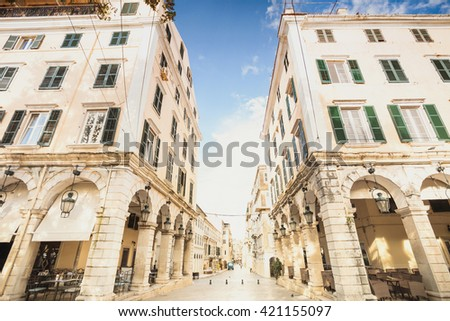 View of the Corfu town, Greece