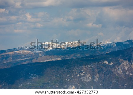 View of the Dolomite mountains, North Italy