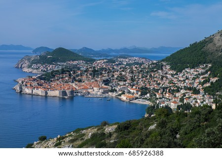 View of the Dubrovnik's old town - Croatia