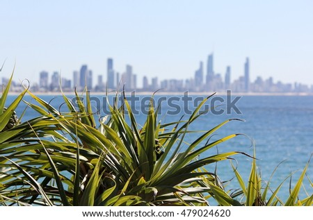 View of the Gold Coast City from Burleigh Heads 2
