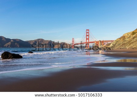 View of the Golden Gate Bridge from Marshall Beach