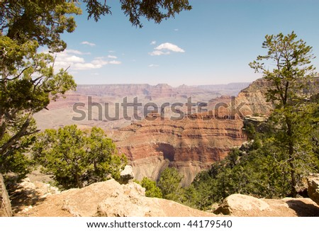 view of the Grand Canyon from Grandview Point - stock photo