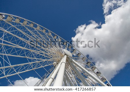 View of the Great Wheel (Ferris wheel) at Seattle's Pier
