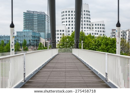 View of the harbor quarter of Dusseldorf in Germany - stock photo