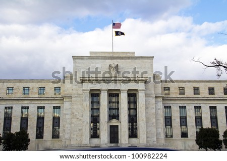 View of the headquarters of the Federal Reserve in Washington, DC, USA - stock photo