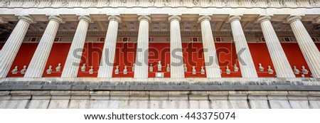 """View of the historic temple """"Ruhmeshalle"""" of Munich in Germany - stock photo"""