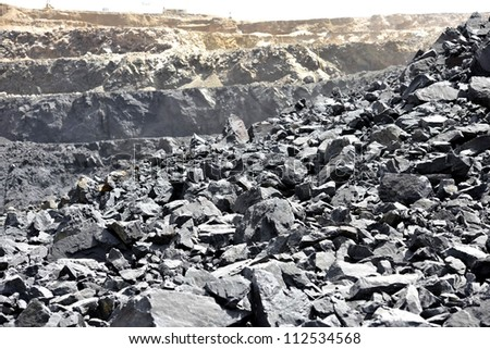 View of the iron ore - stock photo
