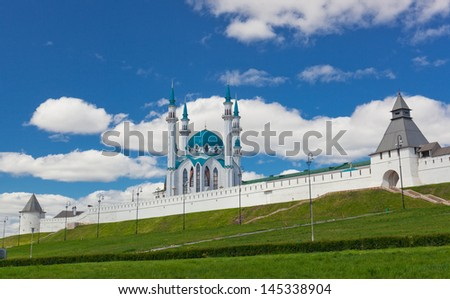 View of the Kazan Kremlin, Russia - stock photo