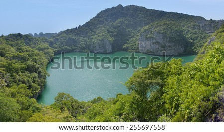 view of the lagoon on the island in Thailand - stock photo