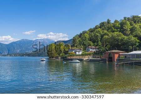 View of the Lake Como (Italy) on a summer day