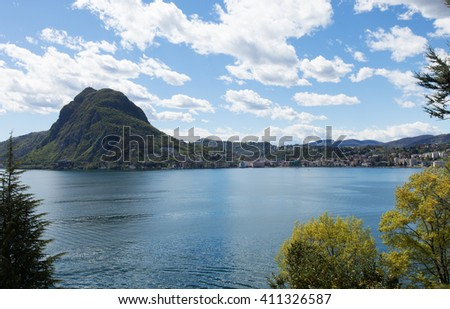 View of the lake from Ciani Lugano park