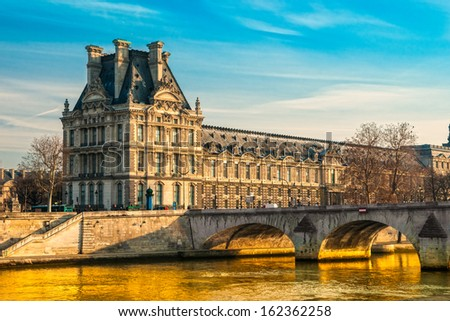 View of the Louvre Museum, Paris - France - stock photo