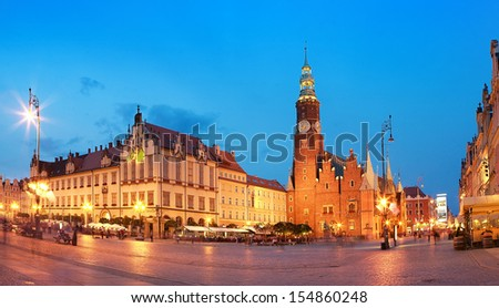 View of the market. Wroclaw, Poland.