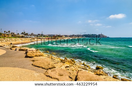 View of the Mediterranean waterfront of Tel Aviv - Israel