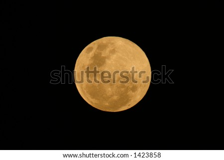 View of the moon over the African continent - stock photo