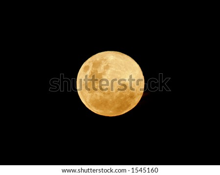 View of the moon over the African continent