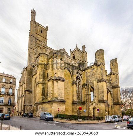 View of the Narbonne Cathedral - France