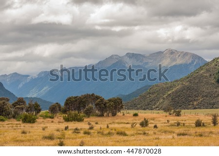 View of the New Zealand landscape