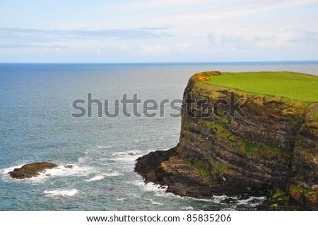 View of the North Antrim Coastline, Ireland - stock photo
