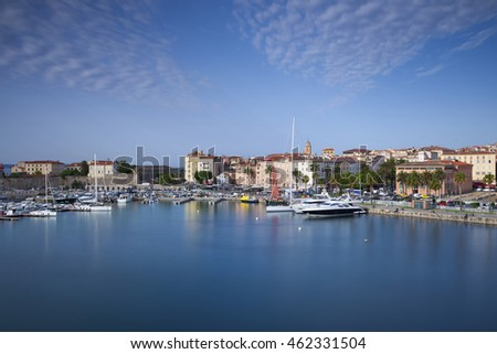 View of the old city and the harbor of Ajaccio