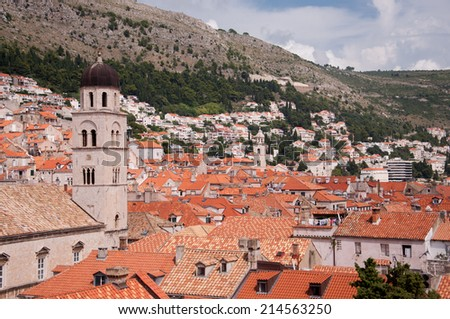 View of the old city of Dubrovnik, Croatia - stock photo