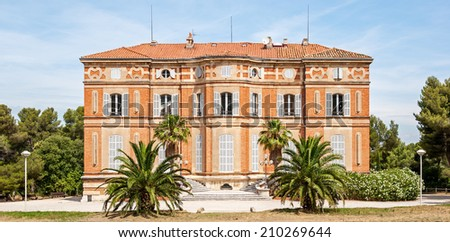 "View of the old palace ""Chateau Pastre"" of Marseille in South France - stock photo"