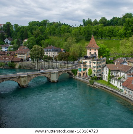 View of the old part of Bern, Switzerland
