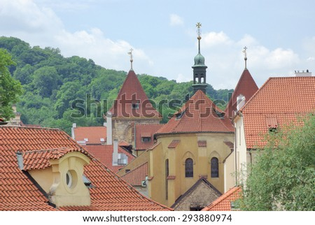 View of the Old Town in Prague, Czech Republic - stock photo